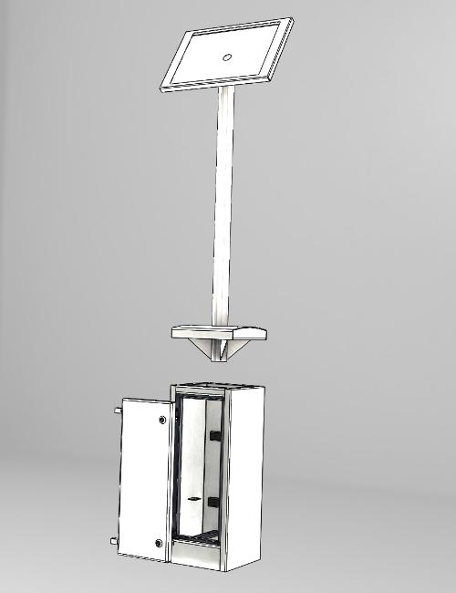 Solar Powered Electrical Pillar